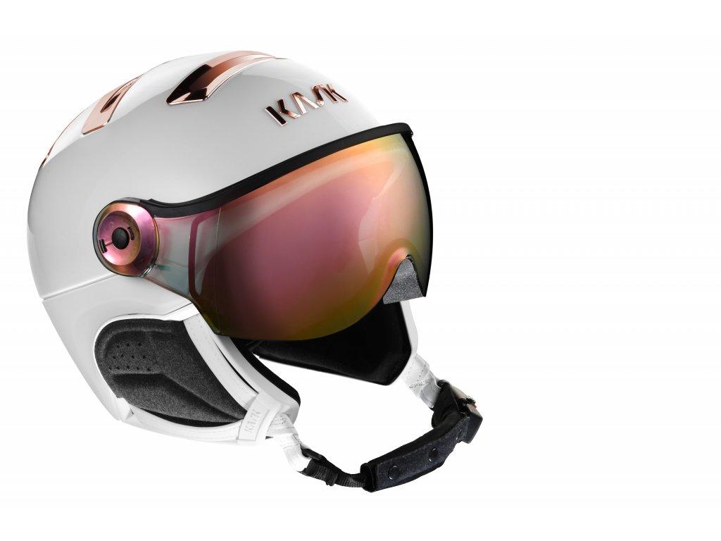 PIUMA R chrome white pink gold visor