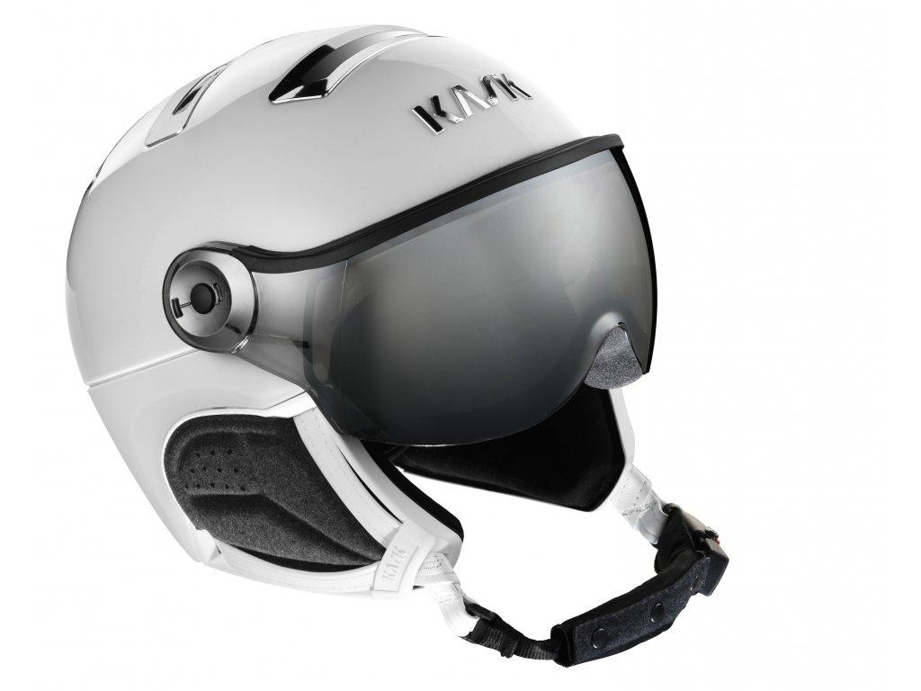 PIUMA R chrome white silver visor