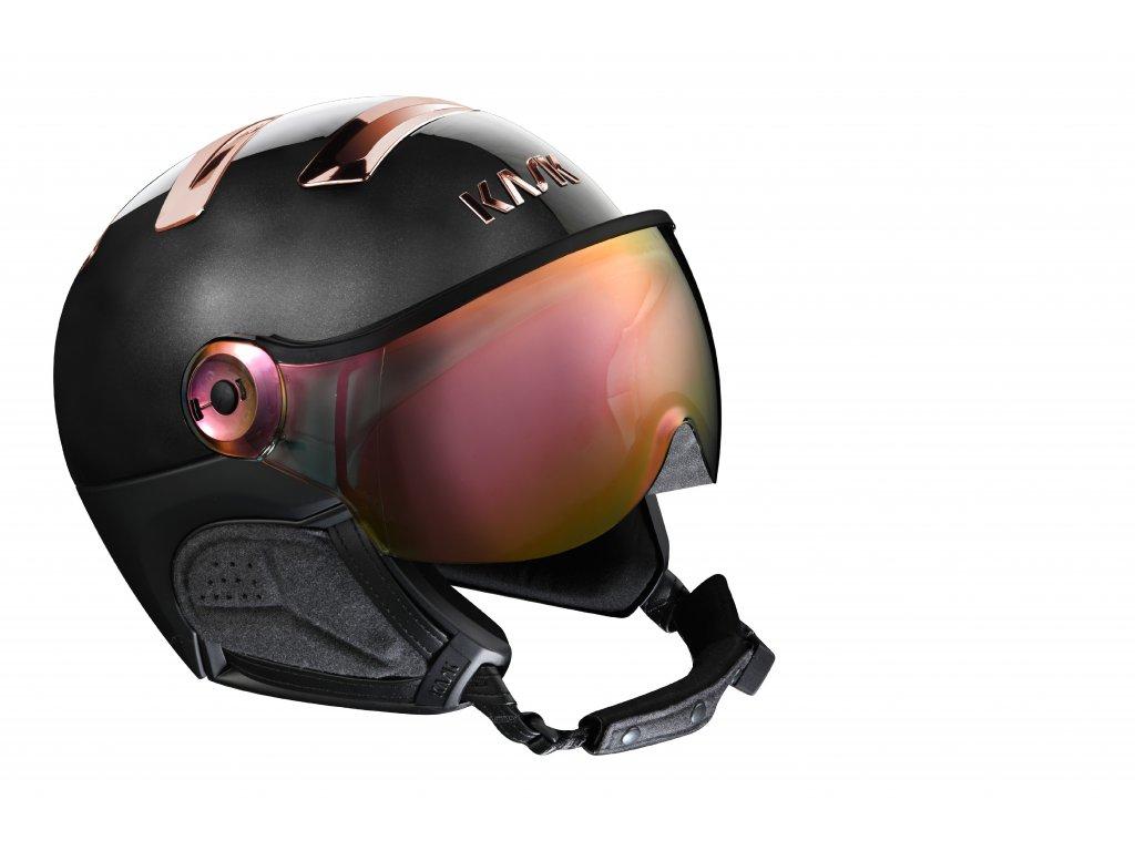 PIUMA R chrome black pink gold visor