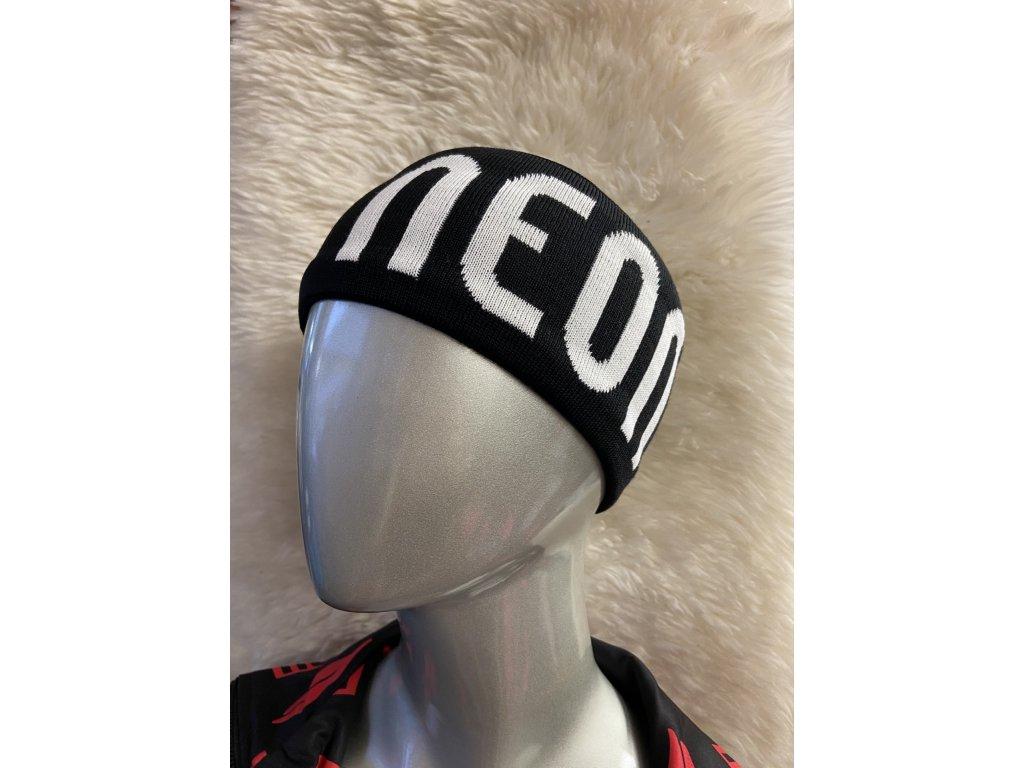 NEON LOGO HEADBAND BLACK WHITE