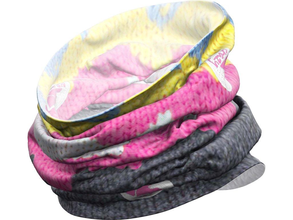 W18385001X 00 Neck Gaiter Light X023 Knitted Dark Grayz