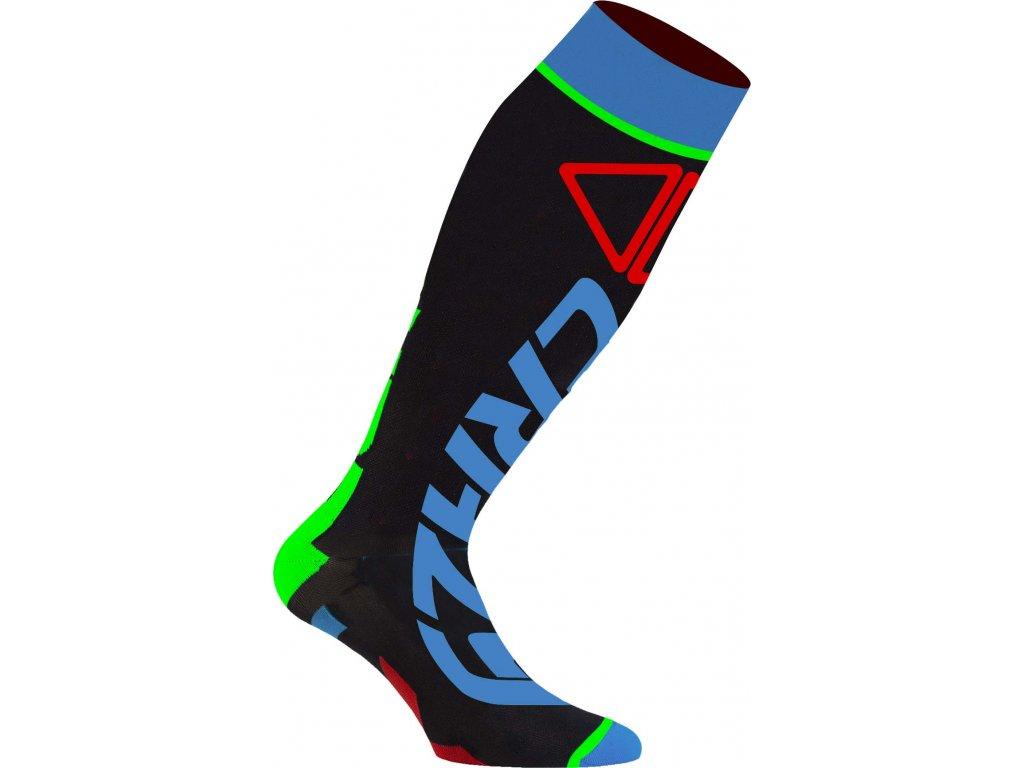 W18386019X 00 Crazy Carbon Socks 01BL Black Bluette