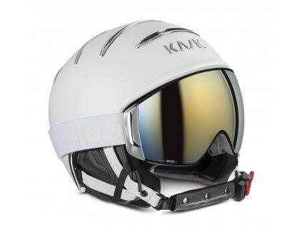Kask Combo Chrome White - Silver (Kask helma velikost 58 cm)