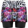 S20045013D 00 Skort Lightning Woman X074 Butterfly Black