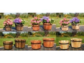 Dřevěné květináč