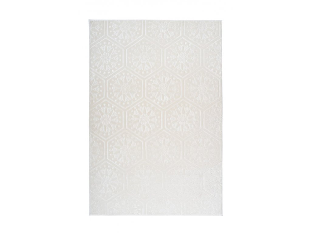 Kusový koberec Monroe 200 bílá  Kusový koberec