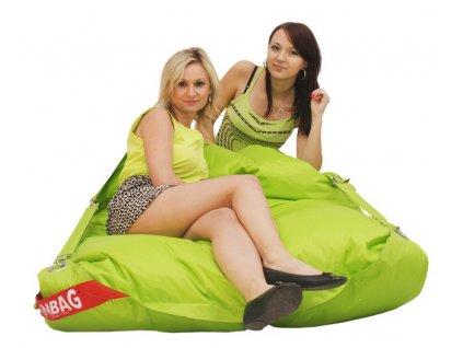 14284 2 sedaci pytel 189x140 comfort s popruhy limetkova