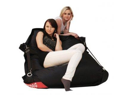 14314 2 sedaci pytel 189x140 comfort s popruhy cerna