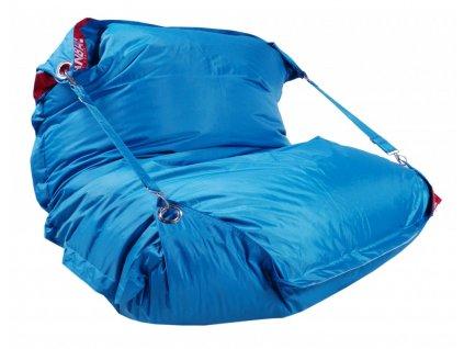 14320 2 sedaci pytel 189x140 comfort s popruhy modra