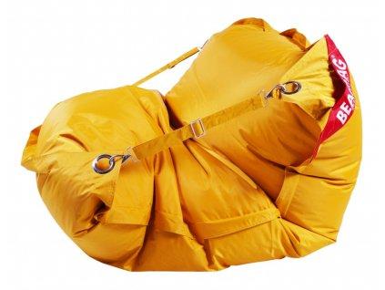 14335 2 sedaci pytel 189x140 comfort s popruhy zlata