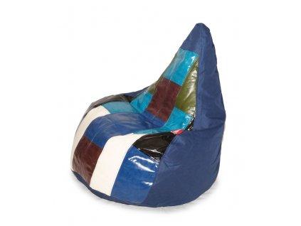 14497 3 sedaci vak colorful tmave modra
