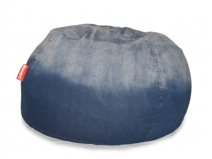 14704 5 sedaci vak jeans round modra