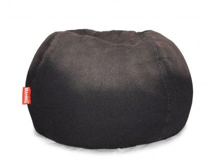 14707 5 sedaci vak jeans round cerna