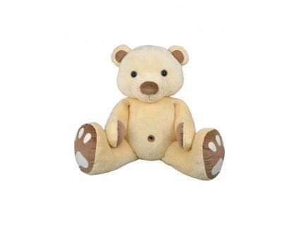 14755 4 plysak medved pupik 120 cm bezovo hnedy