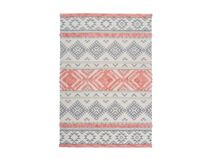 Kusový koberec Ethnie 200 šedá / Apricot  Kusový koberec