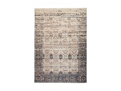 Kusový koberec Galaxy 1400 Béžová / Modrá (Rozměr 80 x 150 cm)
