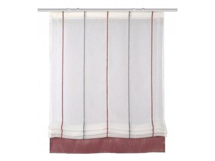 Římská roleta s podélnými pruhy, Piruli, Červená