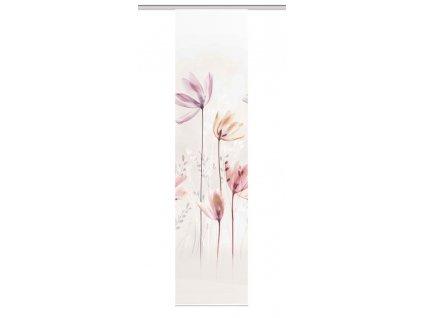 """Panelový závěs, bambusového vzhledu, potisk """"Kuka"""", Přírodní"""