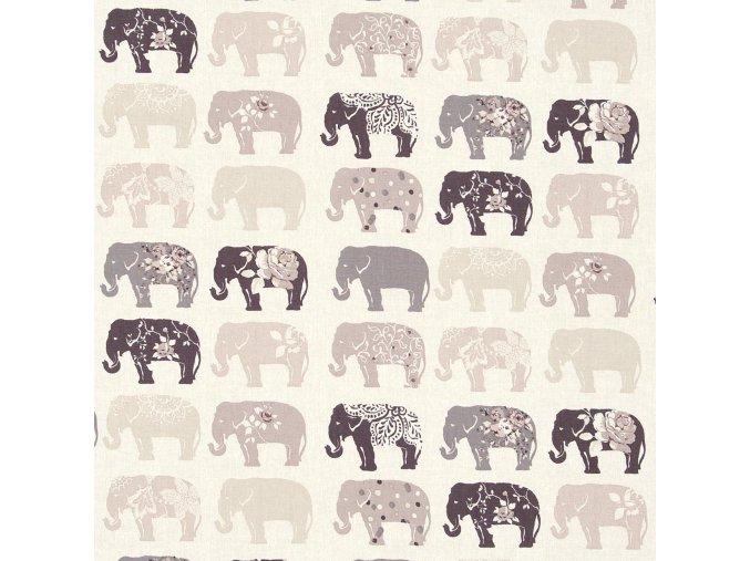 Bavlněná látka Sloni