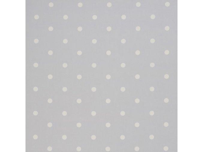 Bavlněná látka Puntík šedý