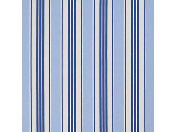 Bavlněná látka Pruhy modré