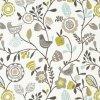 Bavlněná látka Květy limeta