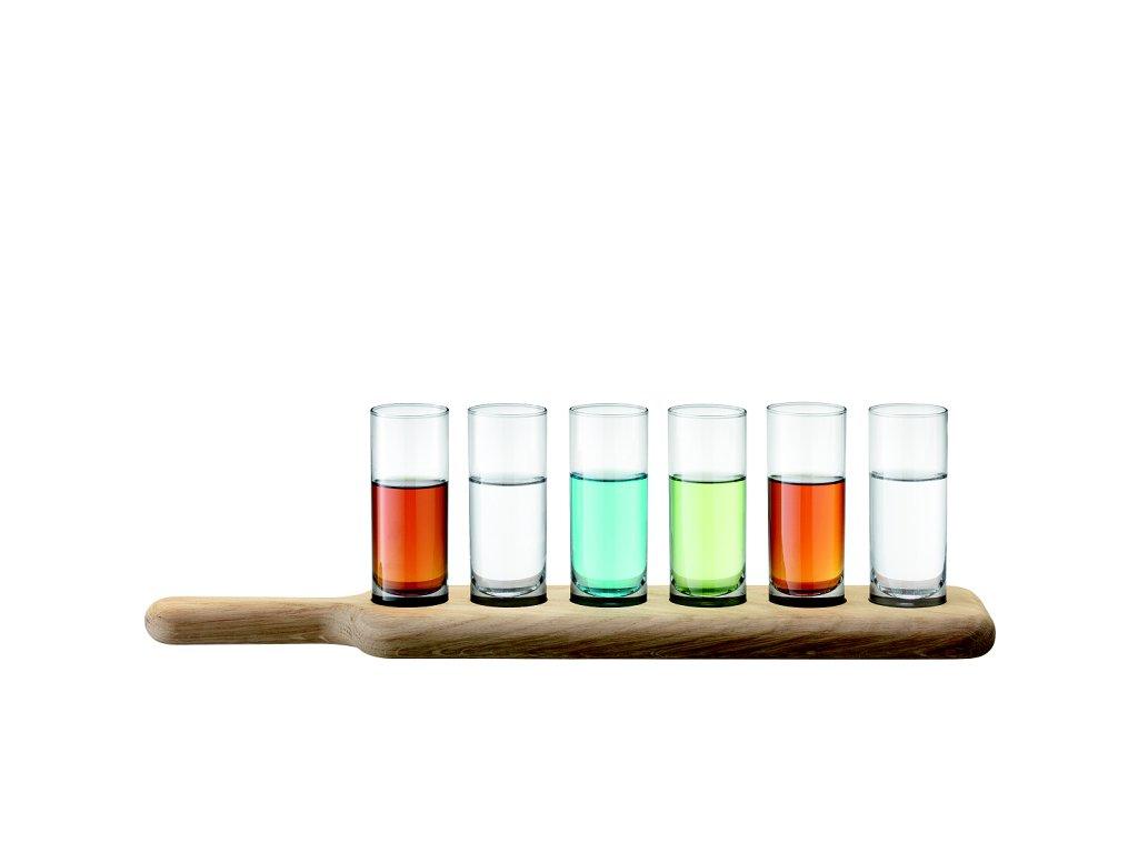 13760 lsa paddle dreveny tac se sklenickami na destilat cire 6 ks handmade