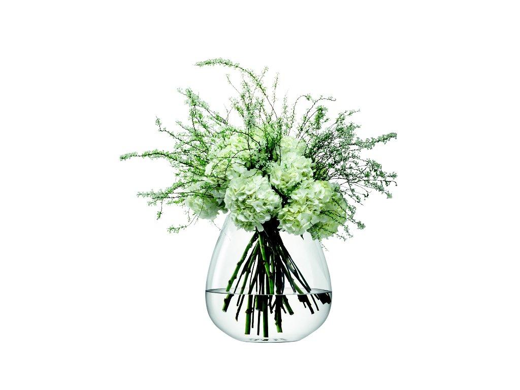 14465 lsa flower sklenena vaza sklenena vypoukla 38 cm cira handmade