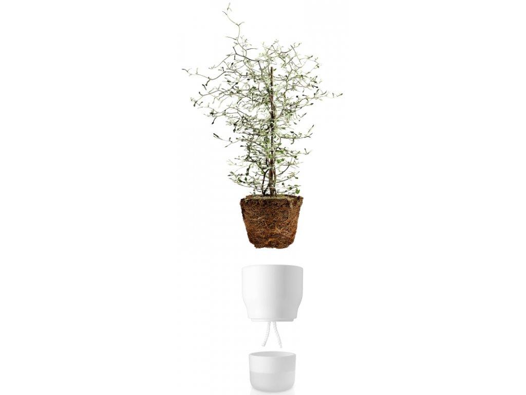14955 samozavlazovaci kvetinac kridove bily v 18cm eva solo