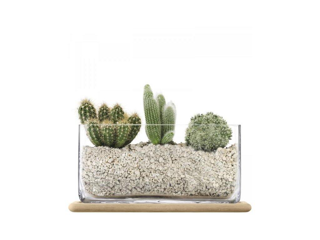 27386 plant obdelnikovy skleneny kvetinac 19 5cm lsa handmade