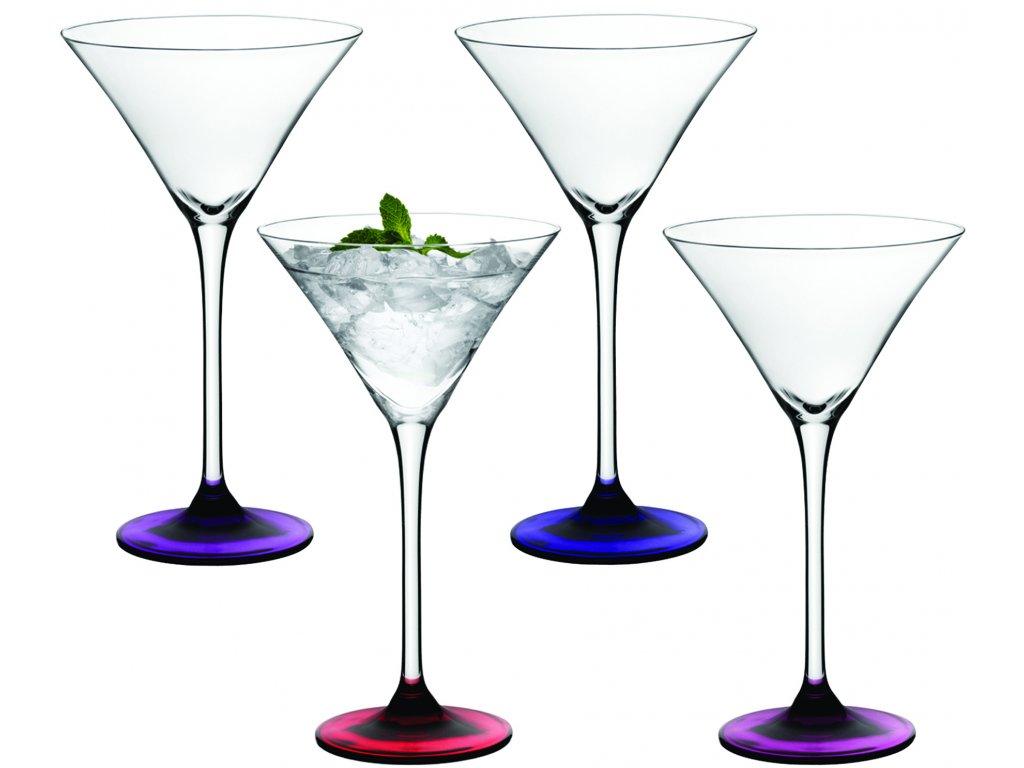 27812 lsa coro koktejlova sklenice set 4ks lesni plody