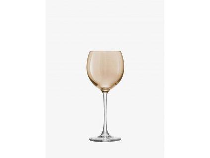 44349 6 sklenice na vino polka 400 ml metalicka set 4 ks lsa international