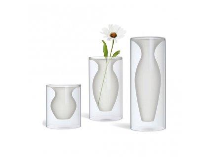 Vază de sticlă Esmeralda 3 dimensiuni - Philippi (Rozměry înălțime 32 cm)