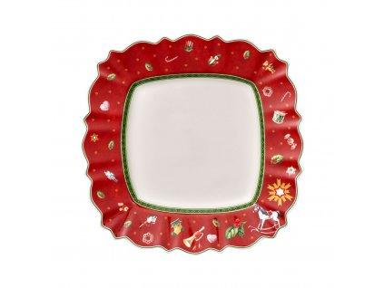 Čtvercový jídelní talíř, červený, 28.5 x 28.5 cm, kolekce Toy's Delight Villeroy & Boch 1