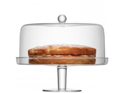 14735 lsa klara stojan na dorty s poklopem prumer 33cm handmade