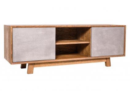 28484 1 tv stolek bema drevo beton kohoutek old wood