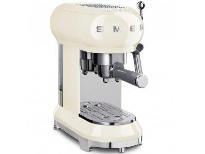 37751 50 s retro style pakovy kavovar na espresso cappucino 15 baru 2 cup kremovy smeg