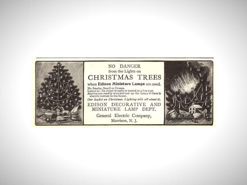 História Vianočného osvetlenia