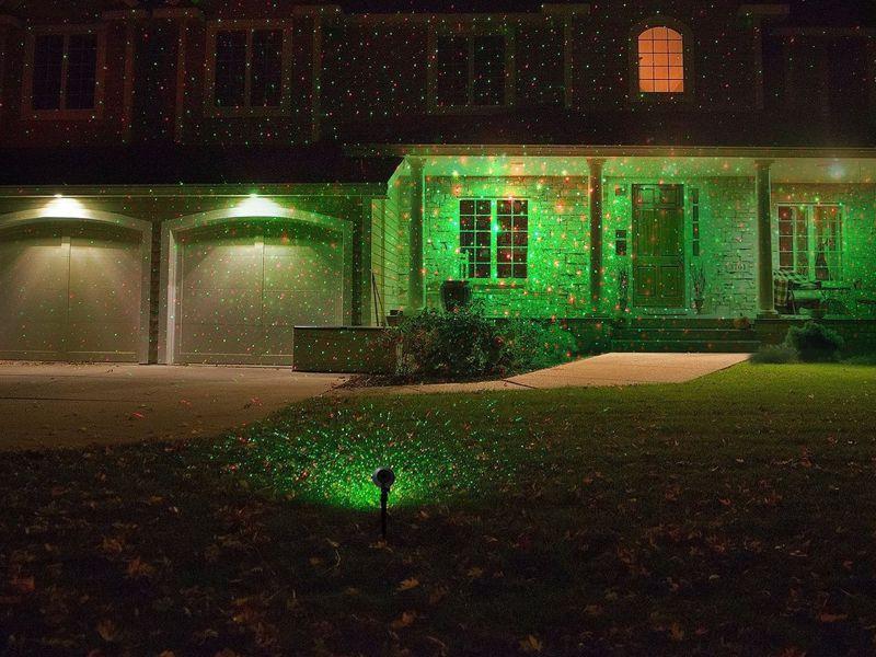 Laserové Vianočné osvetlenie na dom