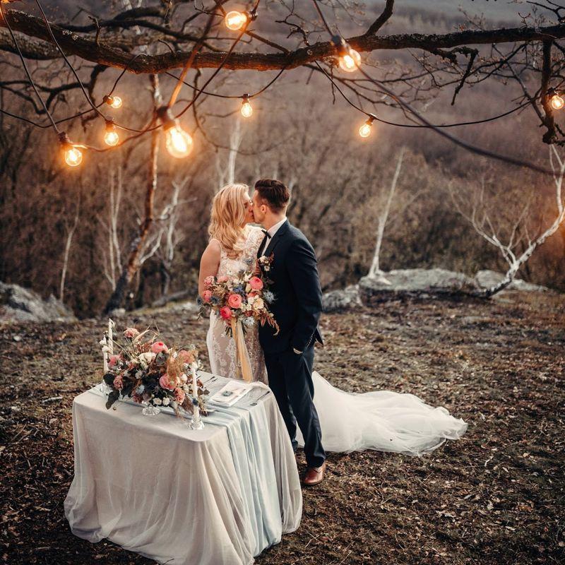 Svadobné osvetlenie