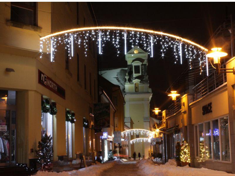 LED vianočné osvetlenie padajúci sneh