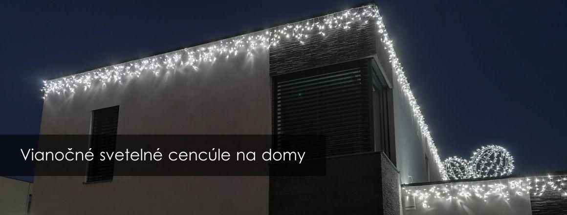 Vianočné svetelné cencúle