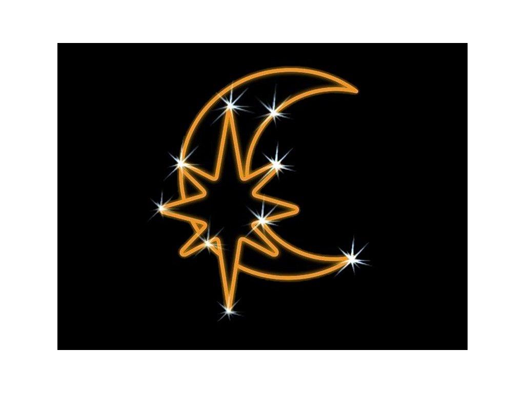 mesiac hviezda LED motiv