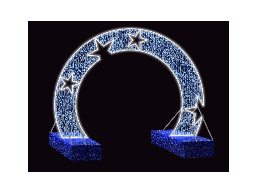 svetelna brana obluk hviezdy