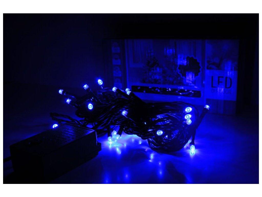 LED reťaz modrá 3m