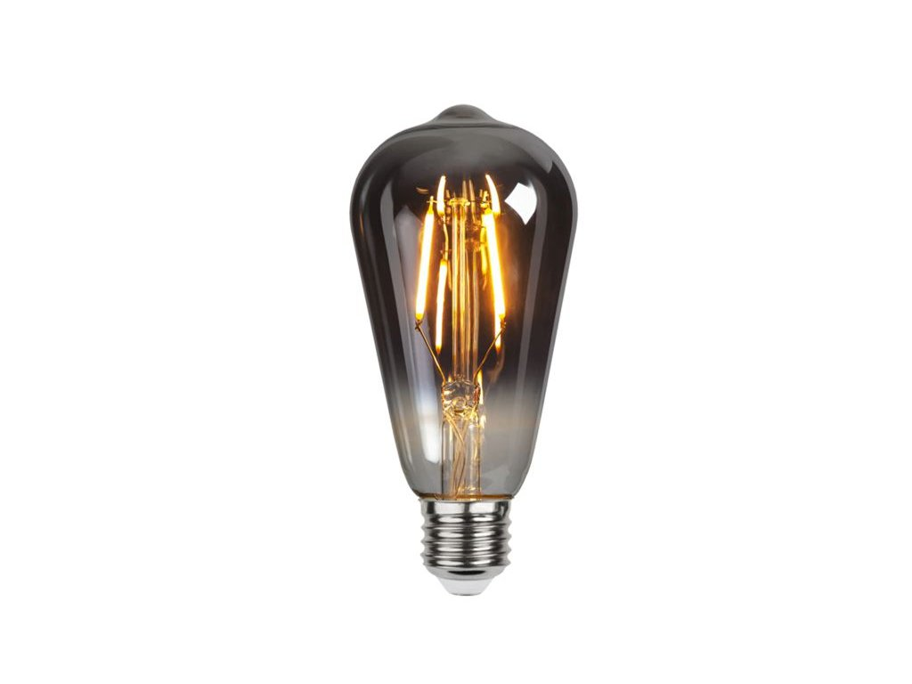 led ziarovka filament e27 1 8w 80lm 2100k smoke a