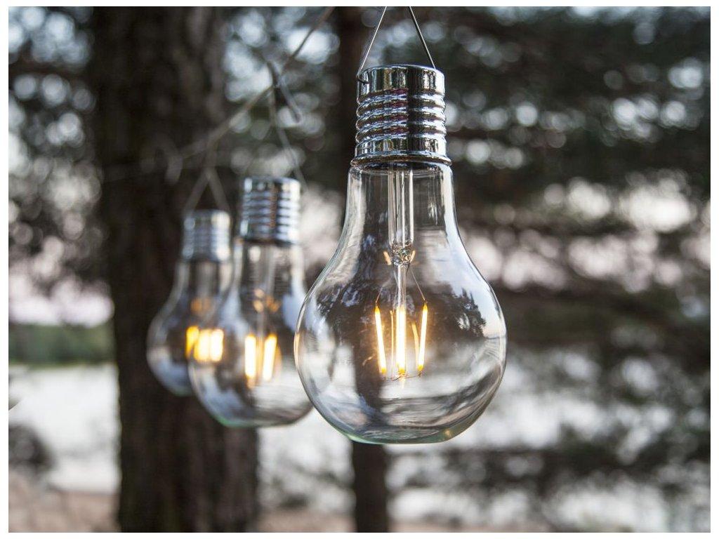 solarne svietidlo ziarovka edison 18cm vintage filament