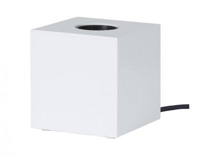 Stolná lampa na žiarovku biela kub e27