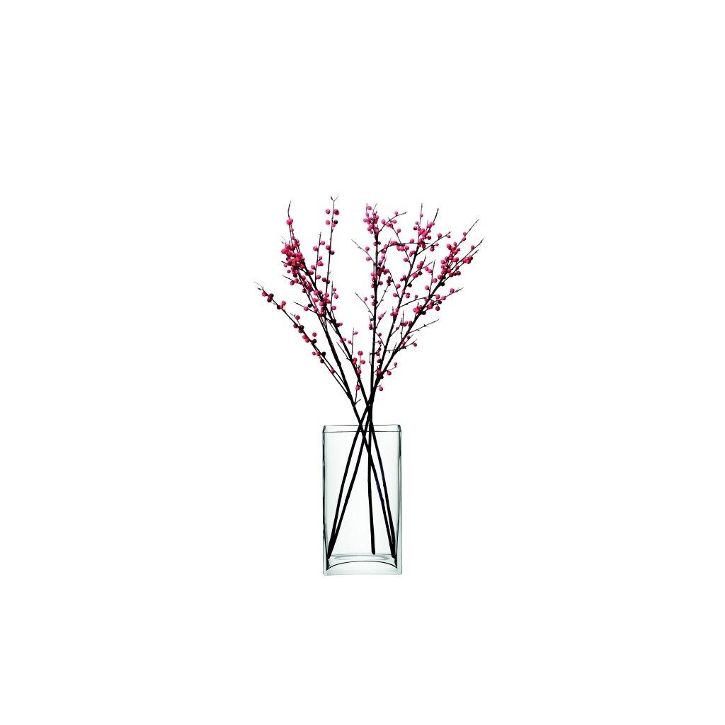 13763 lsa flower bunch sklenena vaza 32cm cira handmade