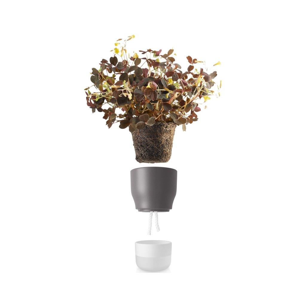 14964 samozavlazovaci kvetinac kridove sedy v 13cm eva solo